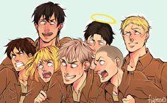 Boy cadets Reaction