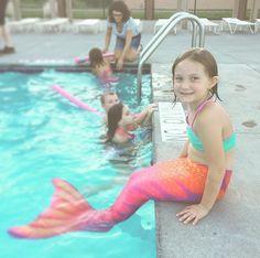 Fin Fun mermaid tail in Tiger Lily