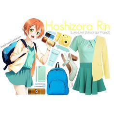 Hoshizora Rin [Love Live! School Idol Ptoject] by anggieputeri on Polyvore