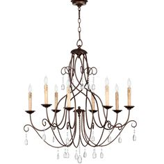 """Lorraine Twisted Bronze Chandelier - Large 34""""w -$544 - dining room?"""