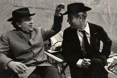Fellini and Mastroianni by Tazio Secchiaroli, 1962