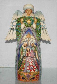Winter Angel with Nativity