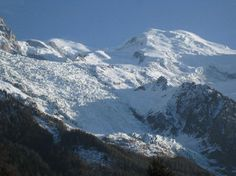 View of Mont Blanc taken from the chalet
