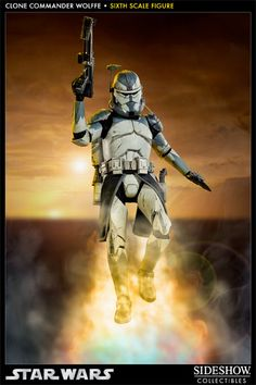 Clone Commander Wolffe Sixth Scale Figure - Sideshow Collectibles - SideshowCollectibles.com WANT! Commander Wolffe is my favorite.