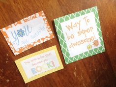 Kindness Cards made by our students for Random Acts of Kindness project