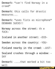 Hetalia Nordics: Denmark gets lost in a crowd Google from ifunny.co