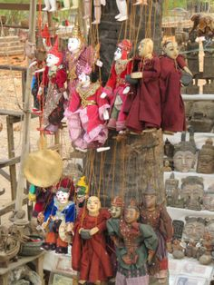 Puppets for sale at Bagan, Myanmar