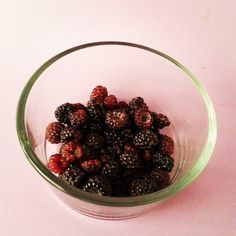On our way home from our 8 mile run hubs found black raspberries growing wild to add to our after run protein shake!  So sweet and yummy!