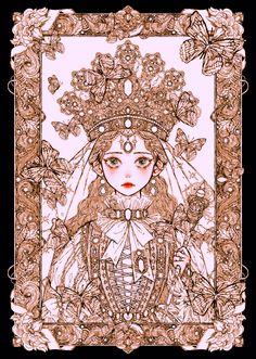 Kunst Inspo, Art Inspo, Anime Art Girl, Manga Art, Fantasy Kunst, Fantasy Art, Art And Illustration, Art Sketches, Art Drawings