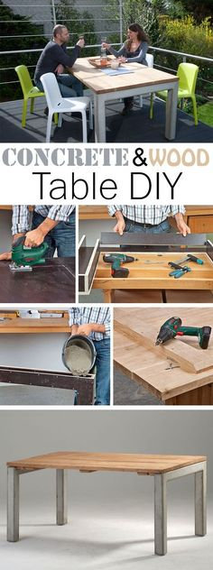 Furnitures with concrete are modern and stylish. We combined concrete and wood to build a table. Our tutorial shows you step by step how to make this table yourself.