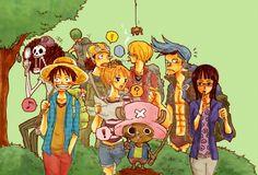 Straw Hat Crew Mugiwaras Luffy Zoro Nami Usopp Sanji Chopper Robin Franky Brook One Piece