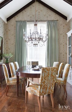Contemporary Blue-Accented Dining Room