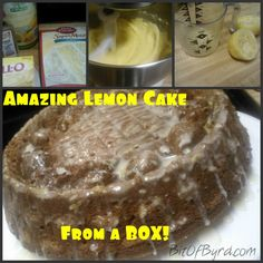 Lemon Cake from a Box!