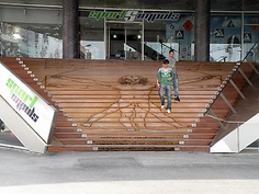 Flawless graphic on stairs