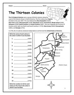 13 colonies map blank   Google Search   7th grade social ...