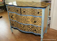 how to paint a dresser moroccan - Google Search