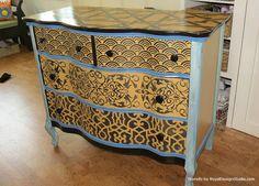 Hometalk :: Fab DIY Furniture Stenciling Ideas With Royal Design Studio Stencils