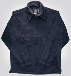 Dark Navy Wool Jac Shirt Made in the USA