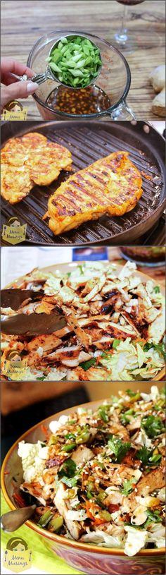 Grilled Ginger-Sesame Chicken Salad Recipe   Asian Food