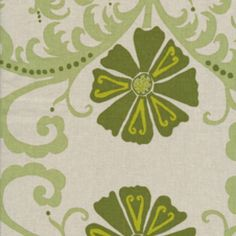 Valori Wells - Jenaveve Cotton Linen - Tribal Floral in Sage