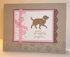D is for Dog Sympathy by Shelly923 - Cards and Paper Crafts at Splitcoaststampers