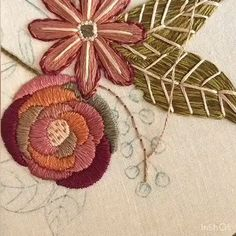 Etsy Embroidery, Hand Embroidery Videos, Embroidery Stitches Tutorial, Embroidery Flowers Pattern, Machine Embroidery Projects, Creative Embroidery, Paper Embroidery, Japanese Embroidery, Silk Ribbon Embroidery