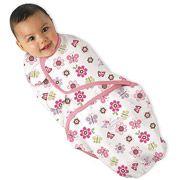 Summer Infant SwaddleMe Swaddling Blanket, Girl, Flutter Flowers