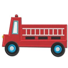 Fire Truck Applique - 5x7 | What's New | Machine Embroidery Designs | SWAKembroidery.com Embroidershoppe