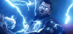 THOR makes his epic entrance in AVENGERS: INFINITY WAR. YEAS I GOT THIS GIF YAS FINALLY