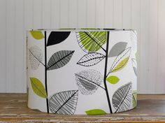 Retro Leaves Drum Lampshade by Sassyshades on Etsy, $95.00