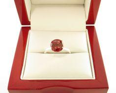 2 carat Fancy Red Diamond Engagement Ring by TigerGemstones, $79.99
