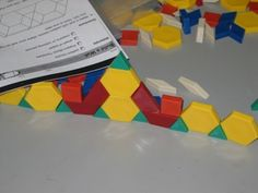 Pattern blocks are a familiar manipulative in most elementary classrooms. Students learn a lot of geometry from informally interacting with. Teaching Patterns, Math Patterns, Second Grade Math, Grade 1, School Days, School Stuff, Maths Algebra, Instructional Technology, Homeschool Math