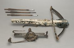 Crossbow Bolt, Germany, 16th-17th century, wood, leather, steel, Cleveland Museum of Art