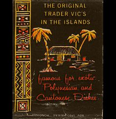 Match cover for the original Trader Vic's in Honolulu