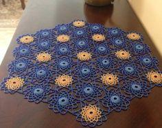 Crochet Beaded DoilyTable Toppers von hiyambeads auf Etsy