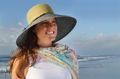 Classy and sassy! Our chic, two-tone, wide-brim DIEGO hat offers high style and great sun protection. Simple cord and wood band add charm to this cute look and the adjustable band makes for the perfect fit. #asianeye #fashion #hat #summer #sun #beach #classy
