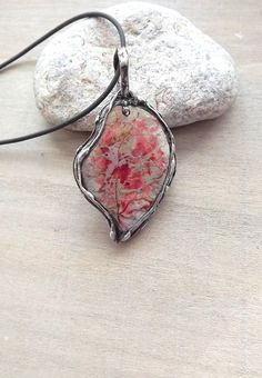 Colored pendant. Pendant with colored jasper. by AcoyaJewellery