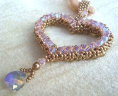 Valentine's Day Crystal Heart Pendant | JewelryLessons.com