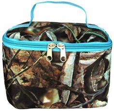 Camo Cosmetic Bag - Turquoise