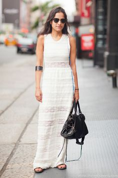 cool Charlotte Ronson dress #NeetaBehl... and with a House of Harlow cuff & Balenciaga bag... fab.  Lafayette Street, Soho. #MelodieJeng