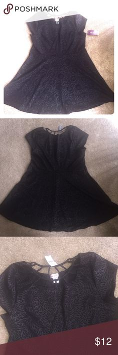Plus size Wet Seal dress New with tag black dress , dress glitters in light floral imprinted cage neck.Size 3x Wet Seal Dresses Mini