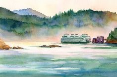 Kristy Gjesme, San Juan Island Acrylic Watercolor Artist