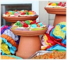 If you have a yearning for the beaches of Cabo, or the sites of Cuernavaca, take a figurative trip south of the border with a Mexican Fiesta themed party.and were here to get your creative juices flowing, so you can fashion a fun and memorable event. Mexican Birthday Parties, Mexican Fiesta Party, Fiesta Theme Party, Taco Party, Party Themes, Party Ideas, Themed Parties, Fiesta Party Centerpieces, Mexican Centerpiece