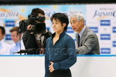 (L-R) Takahiko Kozuka, Nobuo Sato (JPN), OCTOBER 4, 2014 - Figure Skating : Japan Open 2014 at Saitama Super Arena, Saitama, Japan. (Photo by Yohei Osada/AFLO SPORT) (512×341)