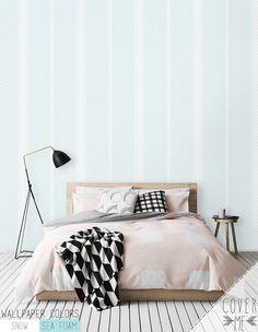 Minimalistic Stripe Pattern Wallpaper / Simple Removable Wallpaper / Geometric Wall Mural / Geometric Wallpaper- CM031