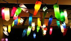 Idea para reciclar botellas de plástico, ¿qué os parece? Colorido, ¿verdad?   #decoracion #reciclaje #interiorismo