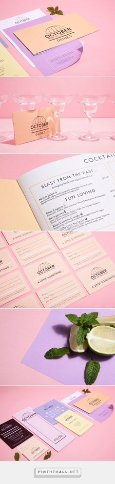 October Rooftop Cafe and Bar Branding by Lauraservice | Fivestar Branding Agency – Design and Branding Agency & Inspiration Gallery