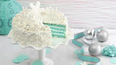 This elegant and luscious Blue Velvet Coconut Torte is a welcome addition to any holiday buffet. Made with Betty Crocker SuperMoist white cake mix, coconut and white chocolate.
