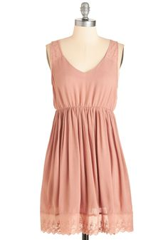 Content Out of Ten Dress. A sunny afternoon accompanied by friends, fresh lemonade, and this blush-pink sundress - could it get any better? #pink #modcloth