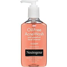 Neutrogena OilFree Acne Wash Facial Cleanser Pink Grapefruit 6 Ounce -- See this great product. (Note:Amazon affiliate link)